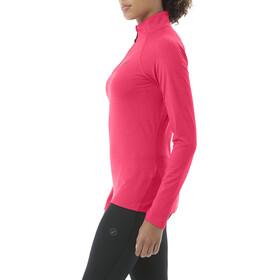 asics LS 1/2 Zip Jersey - Camiseta manga larga running Mujer - rojo